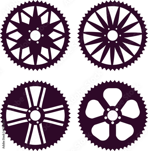 Vector pack of bike rear sprocket