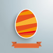 Orange Easter Egg