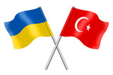 Flags: Ukraine and Turkey