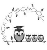 Monochrome back to school twig text