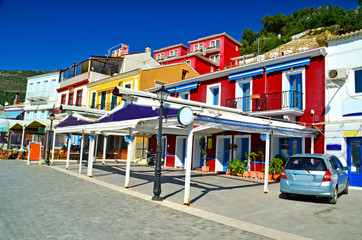 Parga red houses