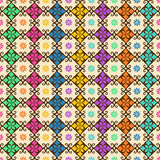 Seamless pattern of colorful ornament