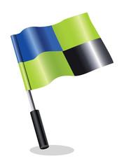 3d flag icon