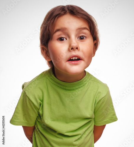 baby little girl swears emotions proves isolated on white backgr