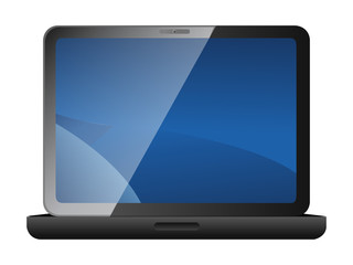 Laptop computer. Vector illustration