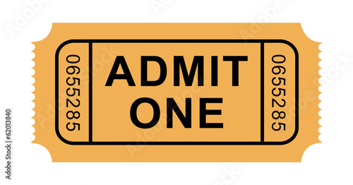 Vector Admission Ticket