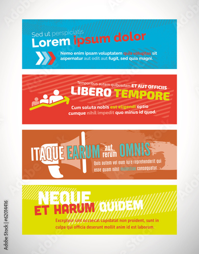 Vector web banner design templates