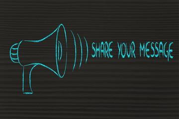 funny megaphone design: share your message