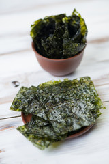 Nori – dry seaweed to wrap sushi or other uses in asian cuisine