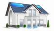 Eigenheim, Energiesparhaus freigestellt weiß
