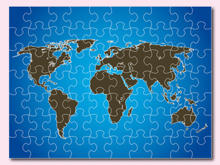 puzzle carte monde