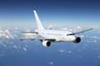 canvas print picture - Flugzeug auf Reisen über den Wolken