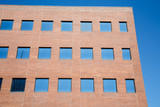 Blue Windows in Red Brick