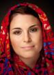 canvas print picture - Muslima mit Kopftuch