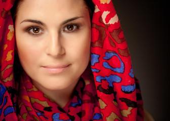 Muslima mit Kopftuch