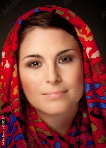 canvas print picture Muslima mit Kopftuch