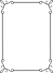 Simple black frame with decorative corners.