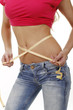 woman with measuring tape around her belly