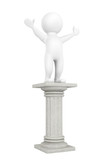 3d person over classic column
