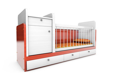 Wooden children's bed
