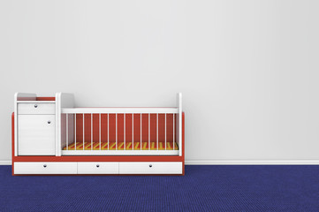 Wooden children bed