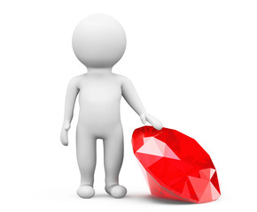 3d person with red diamond