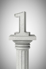 Number one over classic column