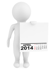 Character holding calendar April 2014