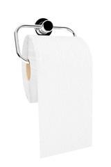 Toilet paper on chrome holder