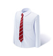White shirt with tie. Eps10 vector illustration. Isolated on