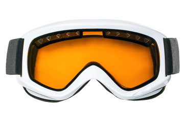 Ski goggles isolated on white background