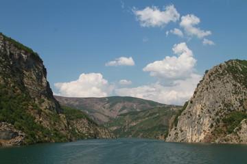 Koman Lake in Albania