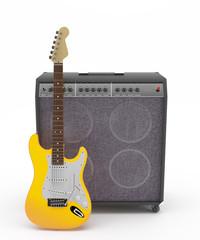 Guitarra Eléctrica Amarilla