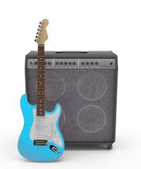 Guitarra Eléctrica Azul