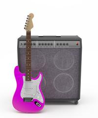 Guitarra Eléctrica Rosa