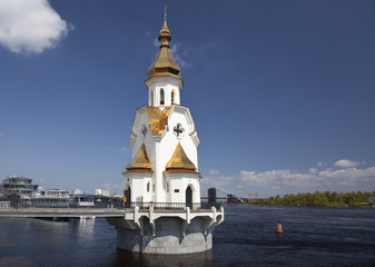 Church of St. Nicholas on the waters. Kiev