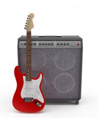 Guitarra Eléctrica Roja
