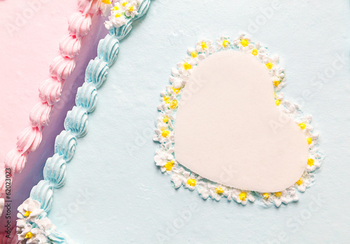 Heart of Birthday Cake