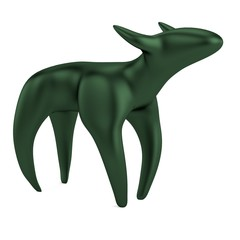 realistic 3d render of animal statue