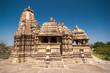 canvas print picture - Khajuraho Tempel