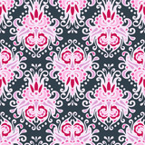Seamless pink Luxury Damask vector design