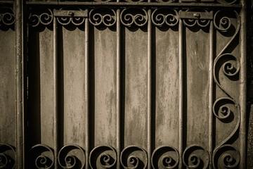 Decorative lattice on a wall