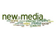 New media word cloud