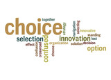 Choice word cloud