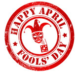 Happy april fools' day stamp