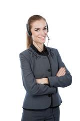 Portrait of a woman customer service worker