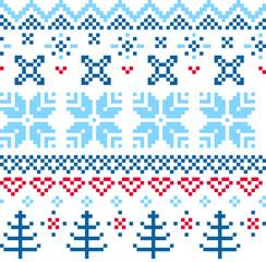 Beautiful seamless Norway pattern
