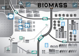 Biomass map gray color