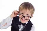 boy spectacled