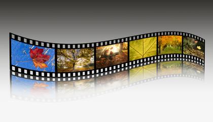 Filmstreifen Herbst